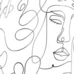 Line art facce