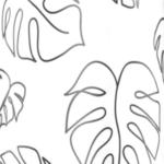 Line art foglie